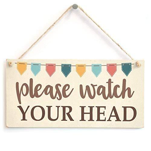 prz0vprz0v Let op uw hoofd Bunting stijl teken lage plafond waarschuwing 10