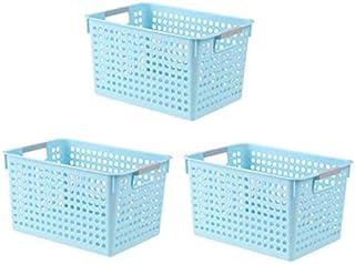 Lpiotyucwh Paniers et Boîtes De Rangement, Panier de Stockage de Bureau, Boîte de Rangement en Plastique Boîte de Rangemen...