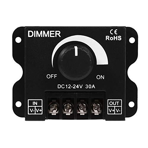Regolatore dimmer, 12V-24V Interruttore led 30A Funzionamento manuale per LED Strip Light Single Color