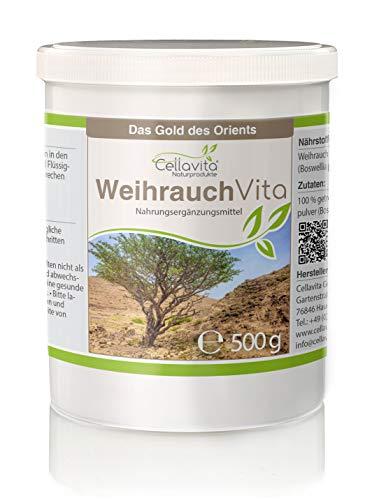 CELLAVITA | Weihrauch (Boswellia papyrifera) | Auf Schadstoffe und Belastungen geprüft | 4-Monatsvorrat 500g Pulver
