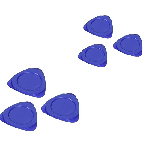 Fixinus 10 Pieces Universal Triangle Plastic Pry Opening Tool for iPhone Mobile Phone Laptop Table LCD Screen Case Disassembly Blue Guitar Picks