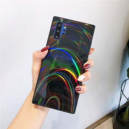 Urhause Kompatibel mit Samsung Galaxy Note 10 Pro Hülle Funkeln Glitzer Gelee Blendend Muster TPU Silikon Weiche Schutzhülle Bunt Bling Glitter Sparkle Hülle Bumper Stoßfestigkeit Handytasche Schwarz