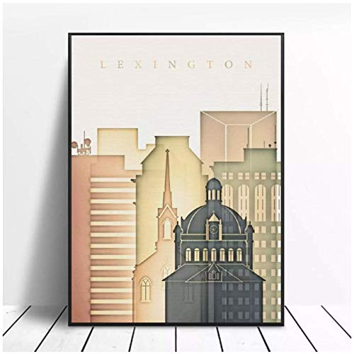 Mxibun Cartel Estético De La Lona Del Arte Del Horizonte De Lexington...