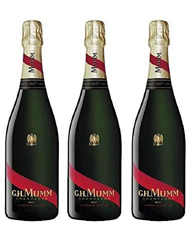 - 3 FLASCHEN - G.H. MUMM Champagne Brut 750ML Cordon Rouge