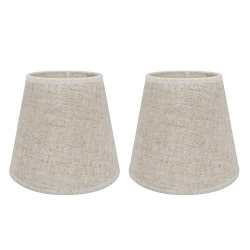 Eastlion Lot de 2 abat-jours E14 pour table de chevet, applique murale en cristal, lustre de lampe,Lion