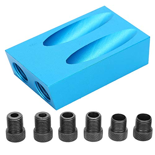 Oblique Drill Hole Locator Set, 7Pcs/Set Hole Screw Jig 15° Angle Drill Woodworking Guide Oblique Locator, with Long Service Life, Small Size and Convenient to Use