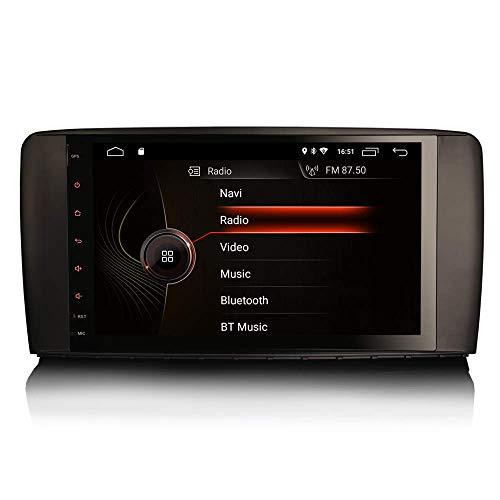 JALAL 9 Pulgadas Android 10.0 Estéreo para automóvil para Mercedes Benz Clase R W251 Soporte GPS Sat Nav Carplay Android Auto DSP Bluetooth WiFi 4G Dab + TPMS Enlace Espejo 2GB RAM + 16GB ROM