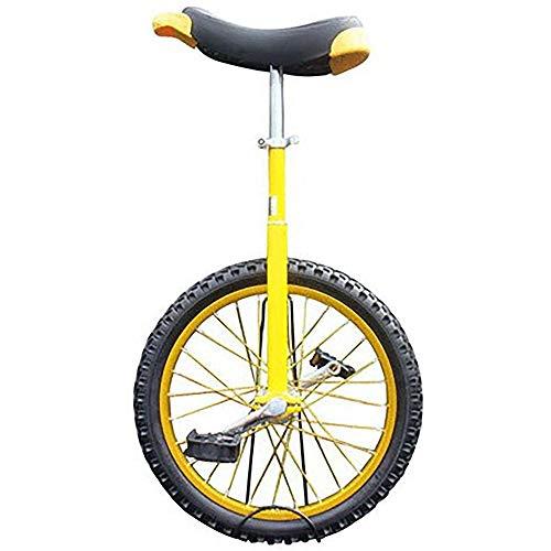 L&WB Einrad Kinder/Kinder/Jungen (8/10/12/14/18 Jahre Alt) Einrad, Erwachsene/Super-Tall 24-Zoll-Radsport Balance Cycling, Mit Rutschfestem Reifen,Gelb,16 inch