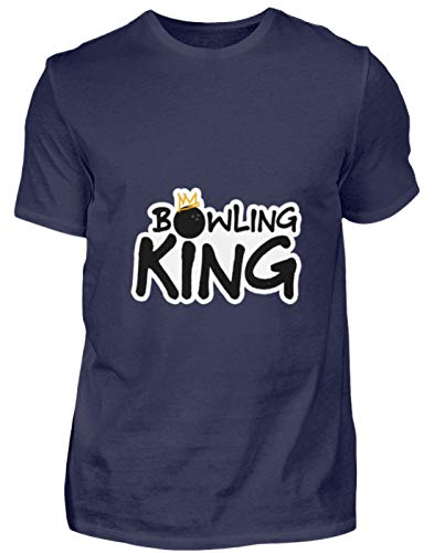 Bowling King König - Herren Shirt -4XL-Dunkel-Blau