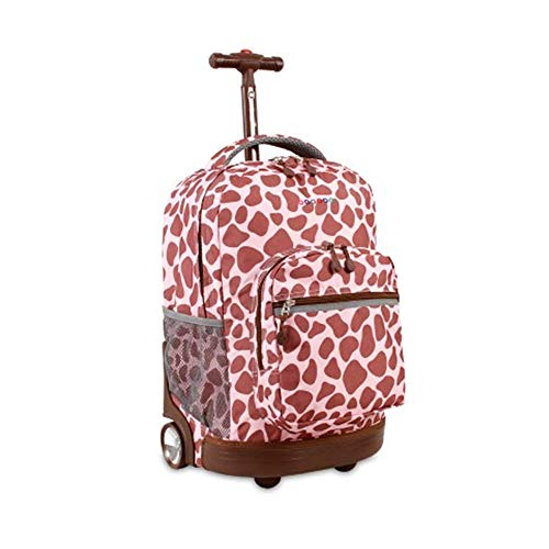 Wheeled Backpack,Boys Rolling Backpack, Roller Backpack for Kids School Bag Wheeled Primary Backpack for Boys,Brown