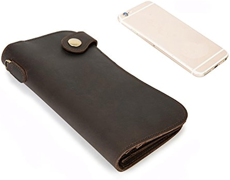 Phone Bag & AccessoriesUniversal Vintage Men Leather Biker Long Chain Trucker Wallet Phone Bag Card Slots Wallet for iPhone