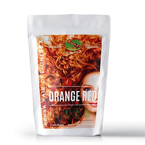 Tinte para el cabello de henna rojo y naranja, paquete de 3