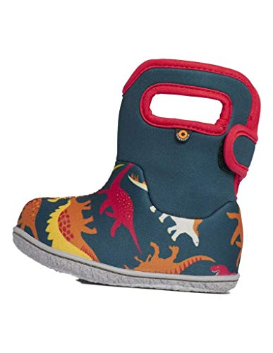 BOGS Girls Baby Waterproof Insulated Snow Boot, Dino-Indigo Multi, 6 Infant