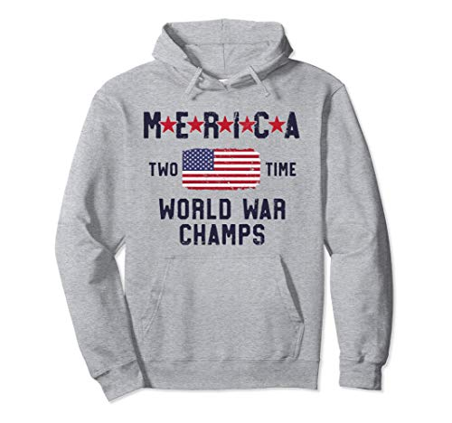 Merica 2 Time World War Champs Hoodie 4th of July