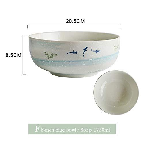 Mstr 1st Goldfish Diner Plaat Keramische Bowl Diner Gerechten met Handvat Rijst Noodle Bowl Visserijset