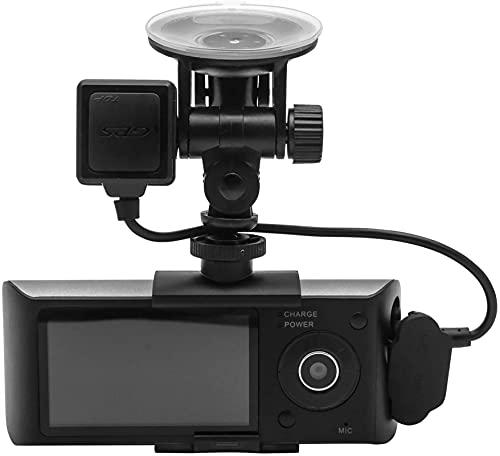 Kettles Dash CAM Oculto para el Auto 2.7inch Dual Lens Car DVR con GPS G- Coche de Gran Angular de la videocámara del Sensor DVR Recorder Cámara Dash CAM, Soporte GPS Módulo