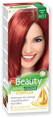 MM Beauty Permanente Haarfarbe MM Beauty Phyto & Farbe 125g - № M11 Granatrot