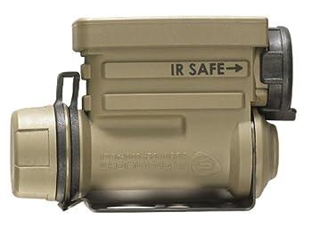 Sidewinder Compact II Military Model - Blanc, Rouge, Bleu, LED IR avec Support pour Casque, Sangle de tête et Batterie au Lithium CR123A - Boîte