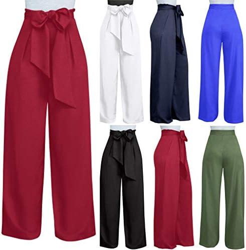 Pantalones Largos Para Mujer Anchos Verano Cintura Alta Paolian 2019 Pantalones Vestir Palazzo Rectos Negocios Elegantes Fiesta Baratos Amazon Es Ropa Y Accesorios