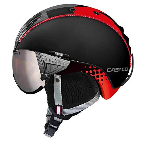 Casco SP-2 Snowball Visor Skihelm F1 schwarz/rot XS-S 52-54cm
