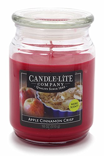 Candle-lite - Duftkerze im Glas, Apple Cinnamon Crisp 510g, Rot, 10 x 10 x 14.5 cm