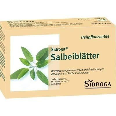 Sidroga Salbeiblätter-Tee – Arzneitee bei Halsschmerzen und Magen-Darm-Beschwerden – 20 Filterbeutel à 1,5 g
