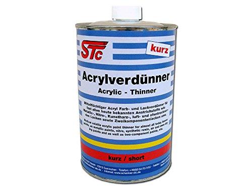 STC 2K Acrylverdünnung kurz 1L Farbverdünner Lackverdünner 2K Acryl Verdünnung Acrylverdünner lösemittelhaltig (1L Flasche)