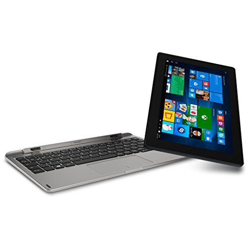 MEDION AKOYA E1239T MD 60075 25,7cm (10,1 Zoll Full HD Bildschirm) Convertible Touch-Notebook (Intel Atom X5-Z8350, 2GB RAM, 64GB Flash, Intel HD-Grafik, Win 10 Home) silber