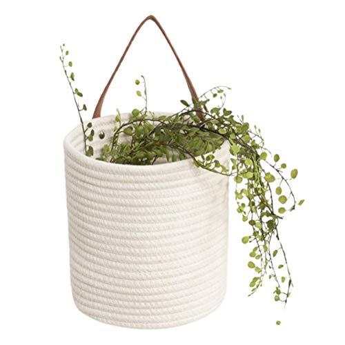 Indoor Plant Flower Pot Hanging Planter Basket, Macrame Plant Hanger Plant Pots Plant Holder Woven Flower Pot Storage Basket for Home Decoration Clothes Toys