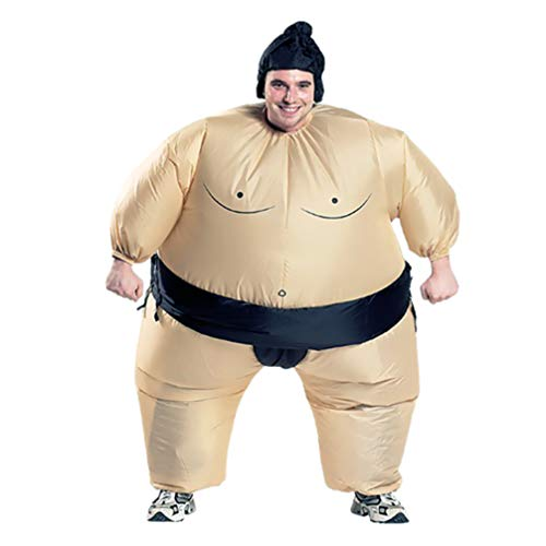 Inflatable Costume Sumo Wrestler Wrestling Suit Halloween Party Cosplay Costumes for Adult