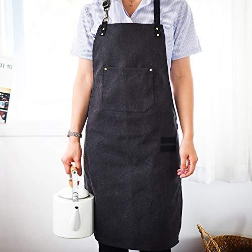 Workshop Chef Werkzeuge Küchen-Schürze Mann Heavy Duty Schwer Waschbare Leinwand Gürtel Taschen Arbeitskleidung Lätzchen (Color : A)