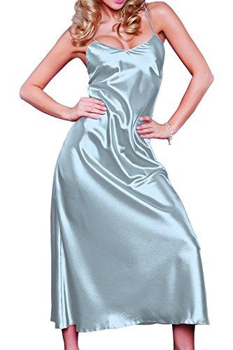 DKaren Damen Nachtwäsche | IGA | aus Satin | Größen XS-2XL 100% Polyester | L Hellblau