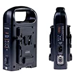 SOONWELL Vマウント2CH 同時 バッテリーチャージャー 2チャネル V -マウントデュアル バッテリー充電器 ビデオカメラVロックバッテリ適用