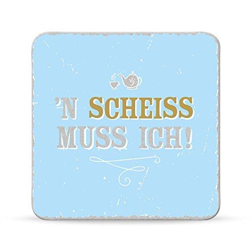 Sheepworld, Happy Life - 44582 - Untersetzer Nr. A8, ´n Scheiss muss ich!, Kork, 9,5cm x 9,5cm