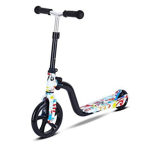 LABYSJ Patinete de 2 Ruedas, Bicicleta de Equilibrio portátil con Ruedas de PU y Manillar Ajustable, diseño Plegable Scooter, patinetes Ligeros para Adultos y niños,C