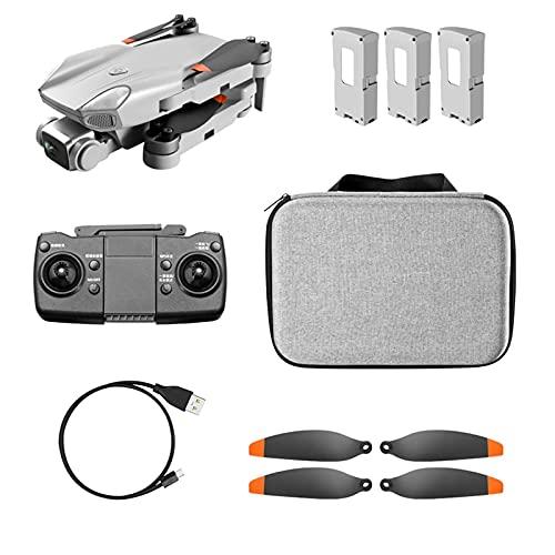 JJDSN Drone con cámara, Video en Vivo y GPS, Regreso a casa para Mini Drones 4k para niños 8-12 Fotografía aérea HD Plegable (tamaño: Tres baterías)