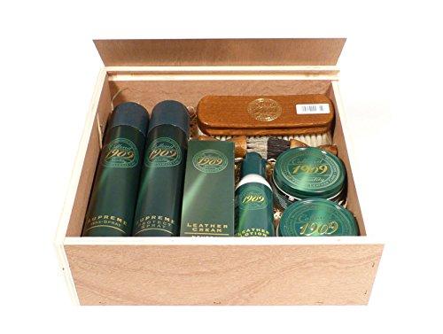 """Collonil Collonil hochwertiges Premium Since 1909"""" Set - in einer von Hand gefertigten Rema Holzkiste"""