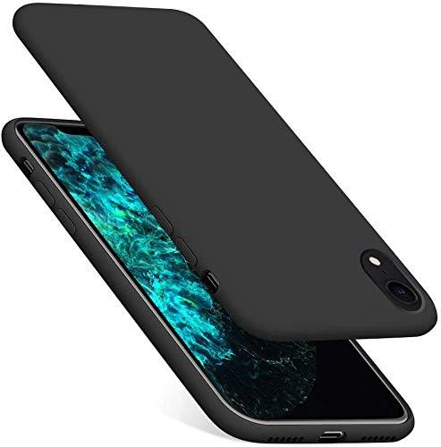 Preisvergleich Produktbild YUNRAY iPhone XR Hülle,  Slim Weiche Silikon Handyhülle Kratzfest Stoßfest Schutzhülle Anti-Kratz-Mikrofaser-Futter Schale Bumper Case Cover,  Kompatibel mit iPhone XR,  6.1 Zoll (Schwarz)