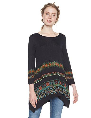 Desigual Damen TS_Aleia T-Shirt, Schwarz (Negro 2000), Medium