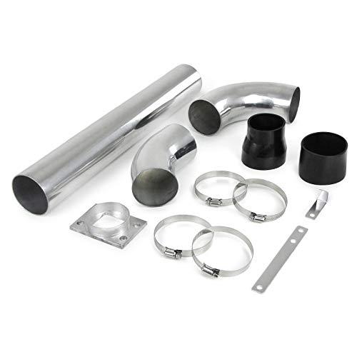 Carparts-Online 12904 Alu Powerrohr Sport Luftfilter Ansaug Rohr Set universell verwendbar