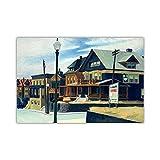 GYJDD East Wind Over Weehawken 1934 por Edward Hopper Lienzos Cuadros Famosos Poster E Impresiones Salon De Estar Decoracion De Arte De Pared 50x80cm Sin Marco
