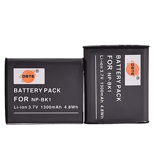 DSTE® 2x NP-BK1 Li-ion Batería para Sony Bloggie MHS-CM5, MHS-PM5, Cyber-shot DSC-S750,...