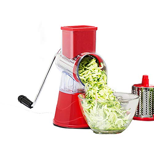 ZXYWW Picador de Vegetales, trituradora rotativa de mandolina, trituradora de Alimentos con Base de…