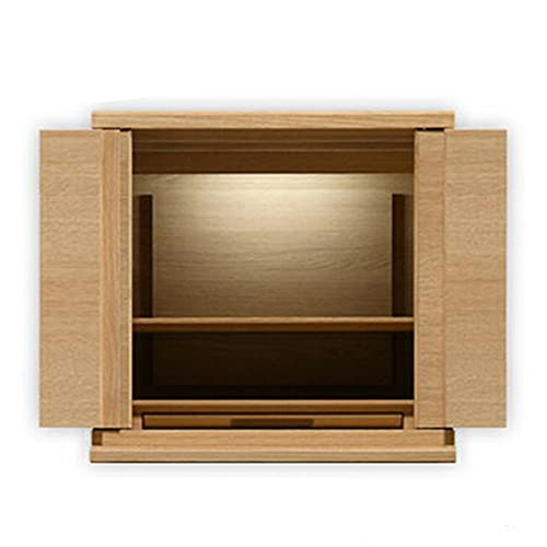 【お仏壇のはせがわ】 仏壇(低タイプ) シェルフレックスN 高さ41cm カリモク家具 ミニ 日本製 オーク