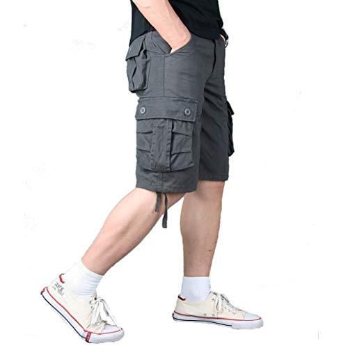 Générique Combinaisons pour Hommes Shorts Occasionnels Multi-Poches Section Mince LâChe Lavable Et RéSistant à l'usure Rue Travail en Plein Air Jusqu'à l'usure Pantalon VêTements