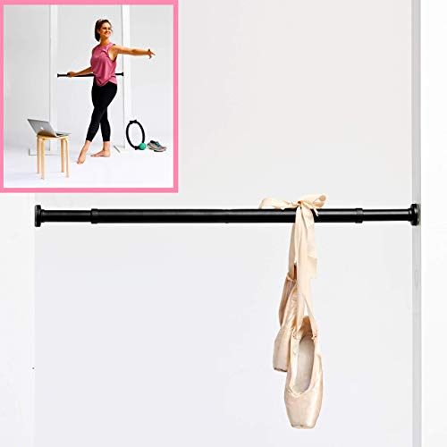 lb2designs Portable Ballet Barre for Home - Lightweight Dance Bars for Workout - Easy to Adjust Height with Safety Locking System