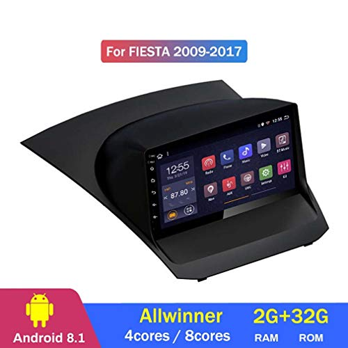 QQHHJY Android 8.1 Octa 8 Core para Ford Fiesta 2009 2010 2011 2012 2013 2014 2015 2016 2017 Navegación GPS Coche Multimedia Reproductor-Control del Volante