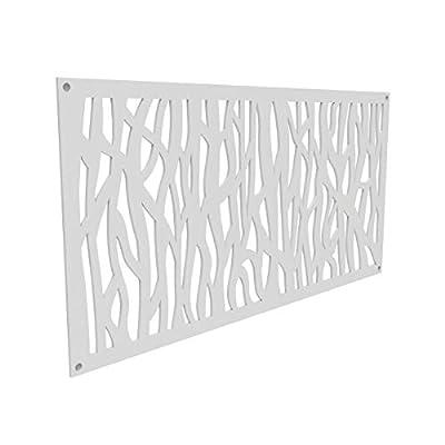 YardSmart 73004790 Decorative Screen Panel 2X4-Sprig, White