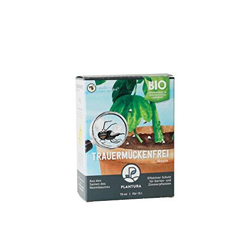 Plantura Bio Trauermückenfrei Neem, wirksames Gießmittel gegen Trauermücken aus Neem, 75 ml