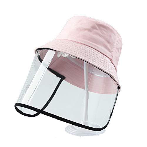 Kids Sun Hats, Boys Girls Dustproof Cotton Packable Visor Hat Summer Anti UV Sun Hats Outdoor Fisherman Sun Hat (Pink, M)